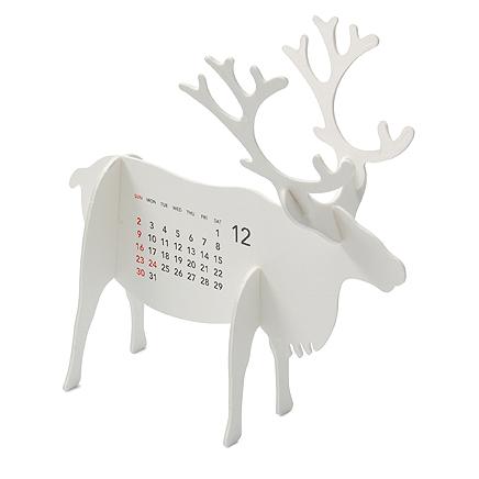 動物のシルエットがかわいいカレンダー
