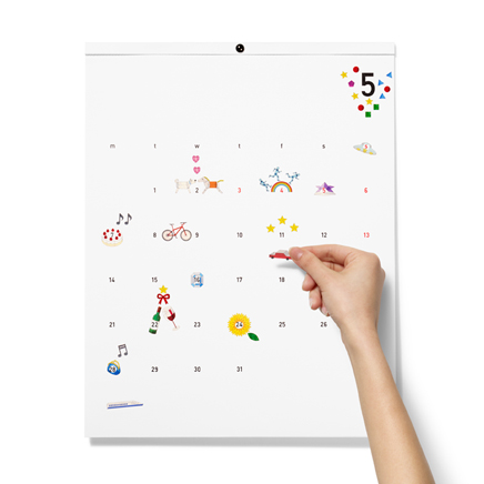 かわいいデコれるカレンダー